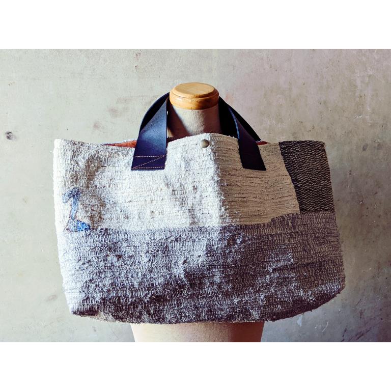 草木染め裂織バッグ